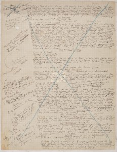 "A manuscript page from the ""Circe"" chapter of Joyce's novel <i>Ulysses</i>"