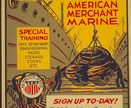 Merchant Marine Recruiting Poster - Library of Congress