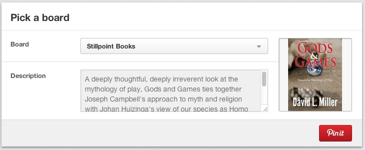 Pinterest — About Gods & Games