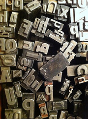 Lead Type by Andre Chinn (andrechinn) @flickr.com. Used through a Creative Commons license.
