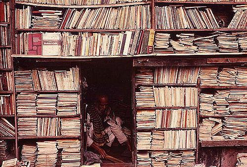 India Calcutta Bookstore by Carl Parks
